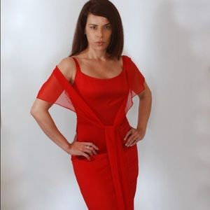 Dresses & Skirts - Mermaid gown in red size small like new$75 obo